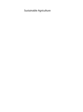 Sustainable agriculture by Eric Lichtfouse